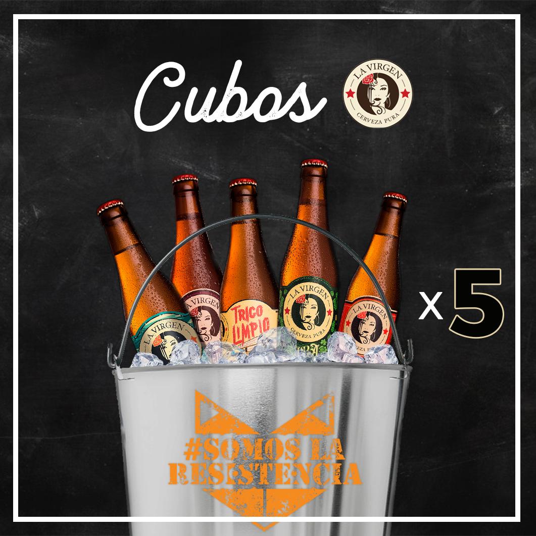 Promoción Spoiler Bar Madrid cubo de 5 cervezas La Virgen