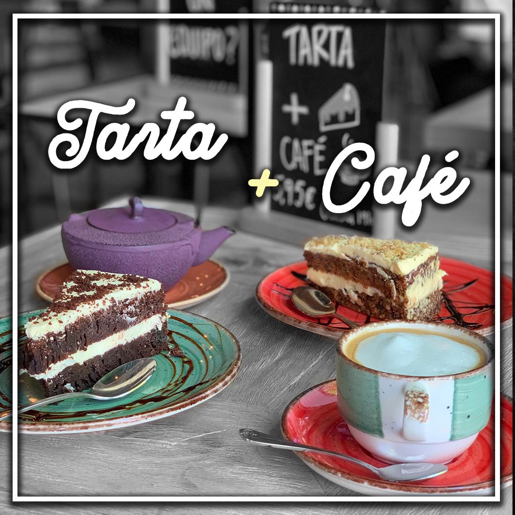 Spoiler bar madrid promoción tarta + café